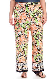 Kaari Blue™ Plus Size Bordered Soft Pant