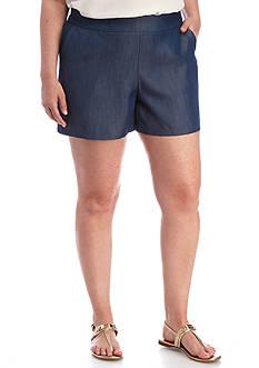 Kaari Blue™ Plus Size Pull On Chambray Shorts