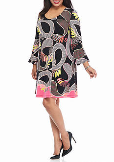 Kaari Blue™ Plus Size Printed Swing Dress