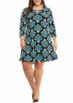Kaari Blue™ Plus Size Three Quarter Sleeve Sheath Dress