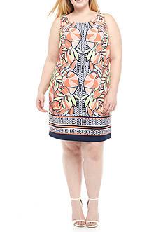 Kaari Blue™ Plus Size Sleeveless X Back Shift Dress