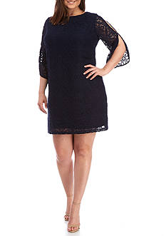 Kaari Blue™ Plus Size Lace Cold Shoulder Dress