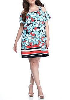 Kaari Blue™ Plus Size Print Barback Dress