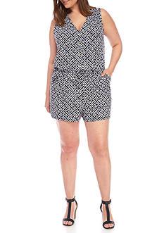 Kaari Blue™ Plus Size Jersey Knit Print Romper