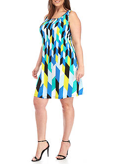 Kaari Blue™ Plus Size Sleeveless Cutout Swing Dress