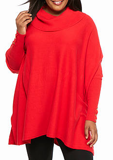 Kaari Blue™ Plus Size Dolman Cowl Neck Sweater