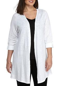 Kaari Blue™ Plus Size Roll-Tab Sleeve Cardigan