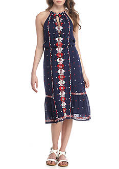Romeo & Juliet Couture Sleeveless Embroidered Dress