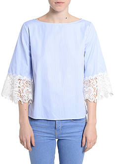 Romeo & Juliet Couture Elbow Lace Sleeve Top