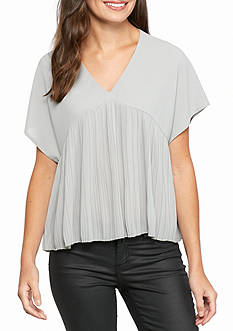Romeo & Juliet Couture Pleated Blouse