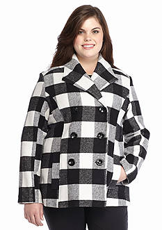 Rampage Plus Size Carrie Coat