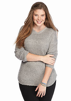 Rampage Plus Size Fuzzy Sweater