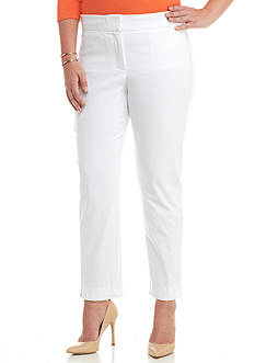 Kaari Blue™ Plus Size Tech Twill Slim Ankle Capris