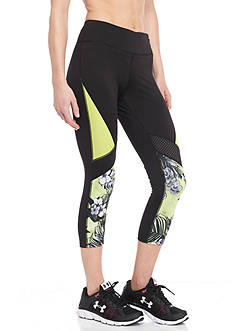Jessica Simpson Floral Color Block Printed Capri