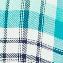 Trendy Juniors Clothing: Plaids: Mint Plaid Red Camel Plaid Shirt with Ruffle Trim