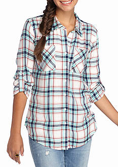 Red Camel Yarn Dye Plaid Shirt