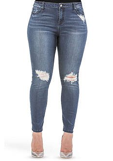 Standards and Practices Plus Size Bardot Hight Waisted Ankle Jean