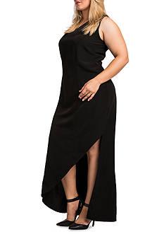 Standards and Practices Plus Size Artemis Asymmetrical Maxi Dress