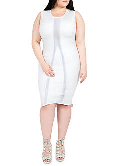 Standards and Practices Plus Size Nathalie Sleeveless Ponte Dress