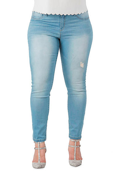 Standards and Practices Plus Size Wash Skinny Jeans