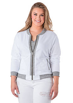 Standards and Practices Plus Size Alexis Bomber Jacket