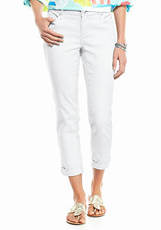 crown & ivy™ Petite Rolled Cuff Capri Pants