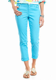 crown & ivy™ Colored Denim Capri