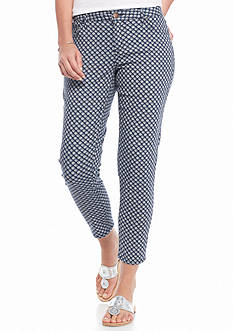 crown & ivy™ Petite Printed Denim Pants