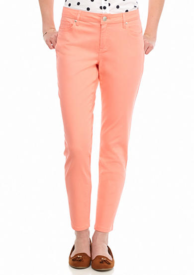 Crown & Ivy™ Petite Size Color Twill Pants