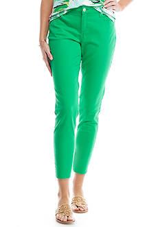 Crown & Ivy™ Solid Short Stretch Denim Pant