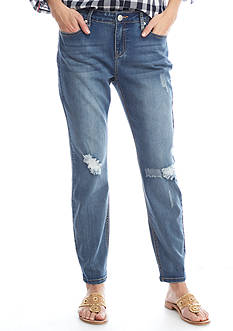 Crown & Ivy™ Destruction Ankle Length Jean