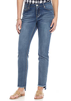 Crown & Ivy™ High Low Skinny Ankle Jeans