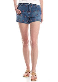 Crown & Ivy™ Embroidery Denim Shorts