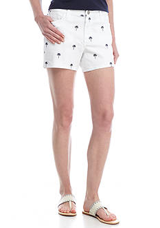 Crown & Ivy™ Denim Short With Palm Trees