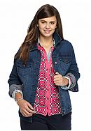 crown & ivy™ Plus Size Denim Jacket