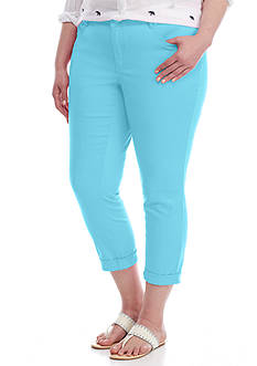 Crown & Ivy™ Plus Size 5 Pocket Roll-Cuff Pant