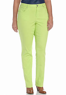 Crown & Ivy™ Plus Size Color Twill Pants