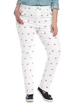 Crown & Ivy™ Plus Size White Elephant Pants