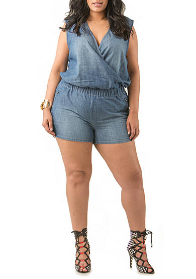 Poetic Justice Mika Chambray Short Romper