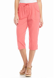 Kim Rogers® Solid Sheeting Capris