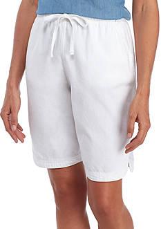 Kim Rogers Lace Tulip Hem Sheeting Shorts