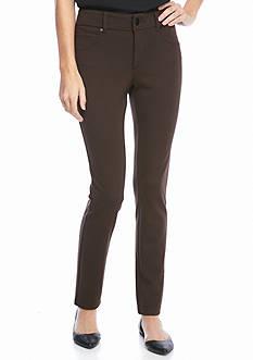 New Directions Petite Ponte Skinny Pant