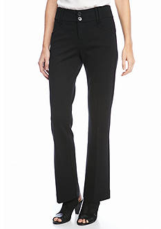 New Directions Petite Size Ponte Trouser Pants