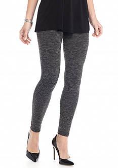 New Directions Weekend Space Dye Cozy Fleece Lined Leggings