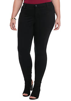 New Directions® Plus Size Five Pocket Zip Front 330G Ponte Skinny