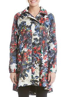 Karen Kane LIFE Floral Trench Jacket