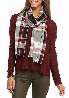 Red Camel Buffalo Check Scarf