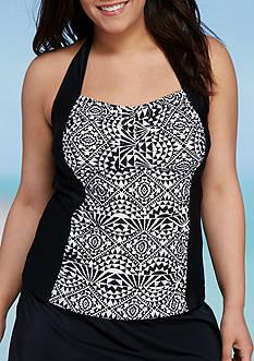 Aqua Couture Plus Size Mini Muse Halterkini Swim Top