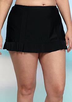 Aqua Couture Plus Size Skirtini Swim Bottoms