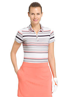 IZOD Women's Striped Polo Shirt